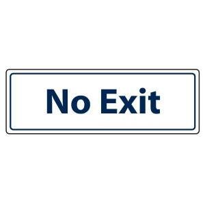 No Exit Door Sign (Landscape)