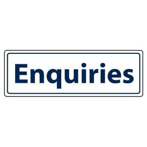 Enquiries Sign (Landscape)