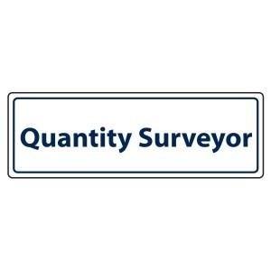 Quantity Surveyor Sign (Landscape)