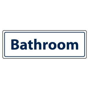 Bathroom Sign (Landscape)