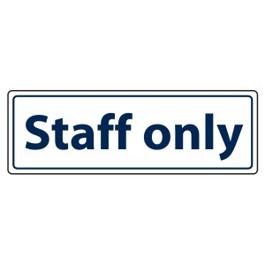 Staff Only Sign (Landscape)