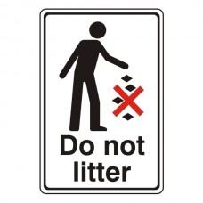 Do Not Litter General Sign