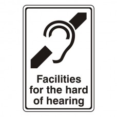 Facilities For The Hard Of Hearing Sign