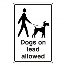 Dogs On Lead Allowed Sign