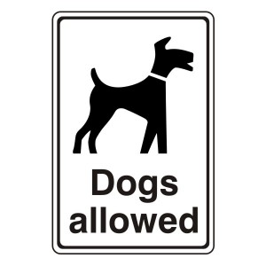 Dogs Allowed General Sign
