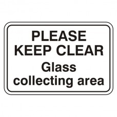 Glass Collecting Area Sign (Large Landscape)