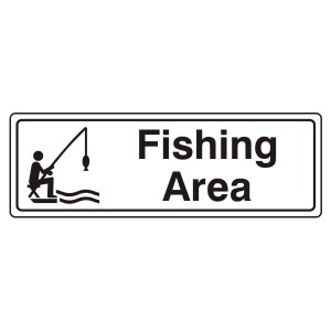 Fishing Area Sign (Landscape)