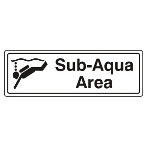Sub-Aqua Area Sign (Landscape)