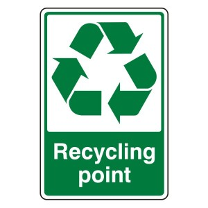 Recycling Point Recycle Sign