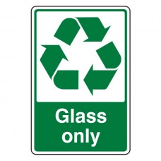 Glass Only Recycle Sign