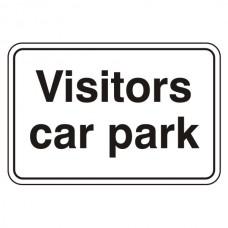 Visitors Car Park Sign (Large Landscape)