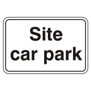 Site Car Park Sign (Large Landscape)