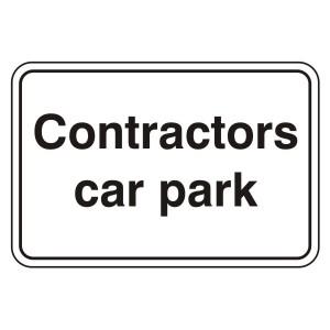 Contractors Car Park Sign (Large Landscape)
