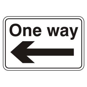 One Way Arrow Left Sign (Large Landscape)