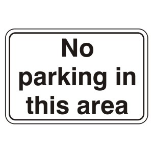 No Parking In This Area General Sign (Large Landscape)