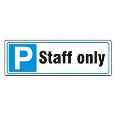 Parking - Staff Only Sign (Landscape)