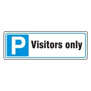 Parking - Visitors Only Sign (Landscape)
