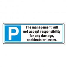Parking - Disclaimer Sign (Landscape)