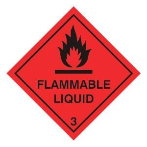 Flammable Liquid Hazard Warning Label