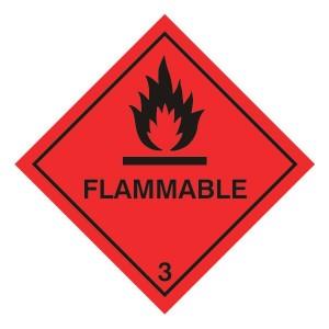 Flammable Hazard Warning Label
