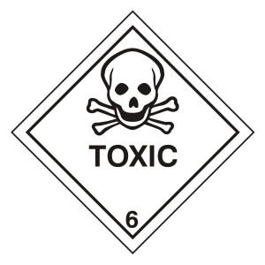 Toxic Hazard Warning Label