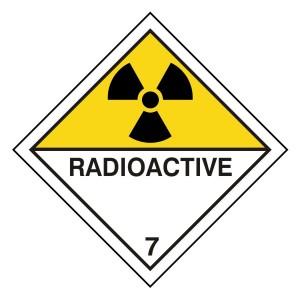 Radioactive Hazard Warning Label