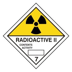 Radioactive II Hazard Warning Label