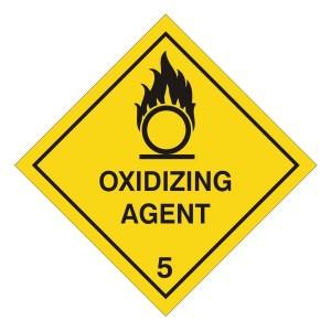 Oxidizing Agent Hazard Warning Label