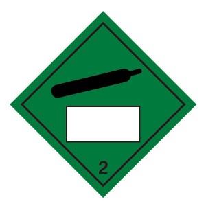 Compressed Gas 2 UN Substance Hazard Numbering Label