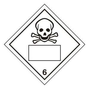 Toxic 6 UN Substance Hazard Numbering Label
