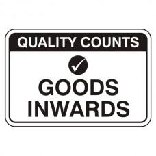 Goods Inwards Sign (Large Landscape)