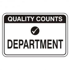Department Sign (Large Landscape)