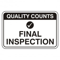 Final Inspection Sign (Large Landscape)