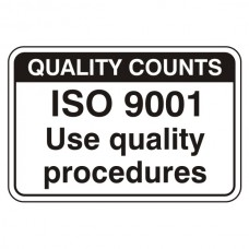 ISO 9001 Quality Procedures Sign (Large Landscape)