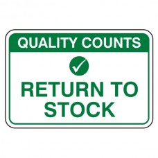 Return To Stock Sign (Large Landscape)