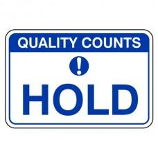 Hold Sign (Large Landscape)