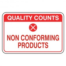 Non Conforming Products Sign (Large Landscape)