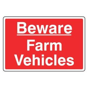 Beware Farm Vehicles Sign (Large Landscape)