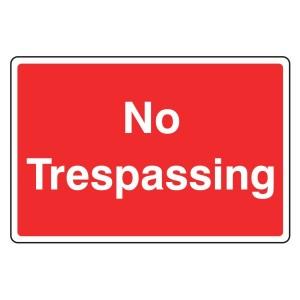 No Trespassing Farm Sign (Large Landscape)