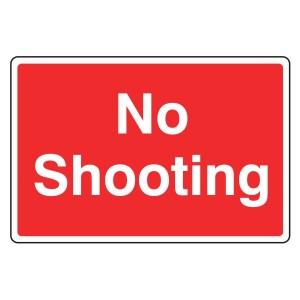 No Shooting Farm Sign (Large Landscape)