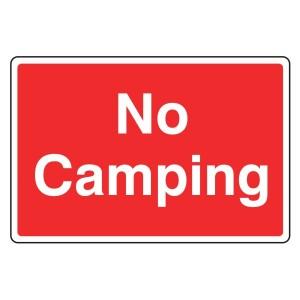 No Camping Farm Sign (Large Landscape)