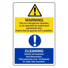 Warning Dangerous Machine Catering  Sign