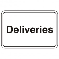 Deliveries Sign (Large Landscape)