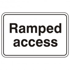 Ramped Access Sign (Large Landscape)