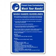 Wash Hands Guidelines Sign