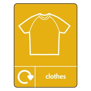 Clothes Recycling Sign (WRAP)