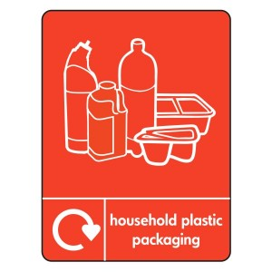 Household Plastic Packaging Recycling Sign (WRAP)