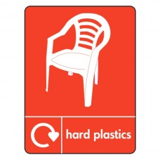 Hard Plastics Recycling Sign (WRAP)