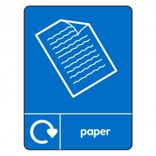 Paper Recycling Sign (WRAP)