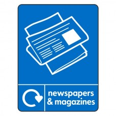 Newspapers & Magazines Recycling Sign (WRAP)